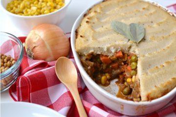 Market Recipe Blog: Lentil Shepherds Pie with Roasted Garlic Mashed Cauliflower