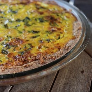 Market Recipe Blog: Mustard Greens Spring Quiche