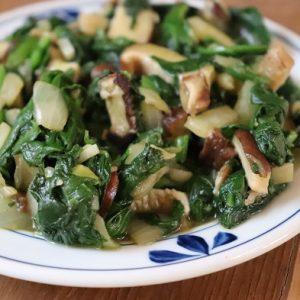 Market Recipe Blog: Warm Spinach and Mushroom Salad