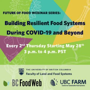 Webinar Series: Building Resilient Food Systems During COVID-19 and Beyond