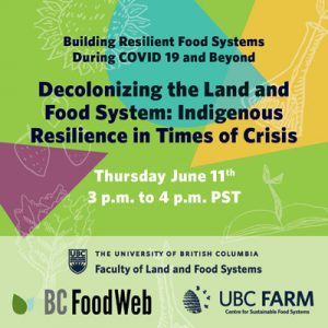 Decolonizing the Land and Food System: Indigenous Resilience in Times of Crisis