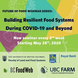 Poster for our COVID-19 webinar series